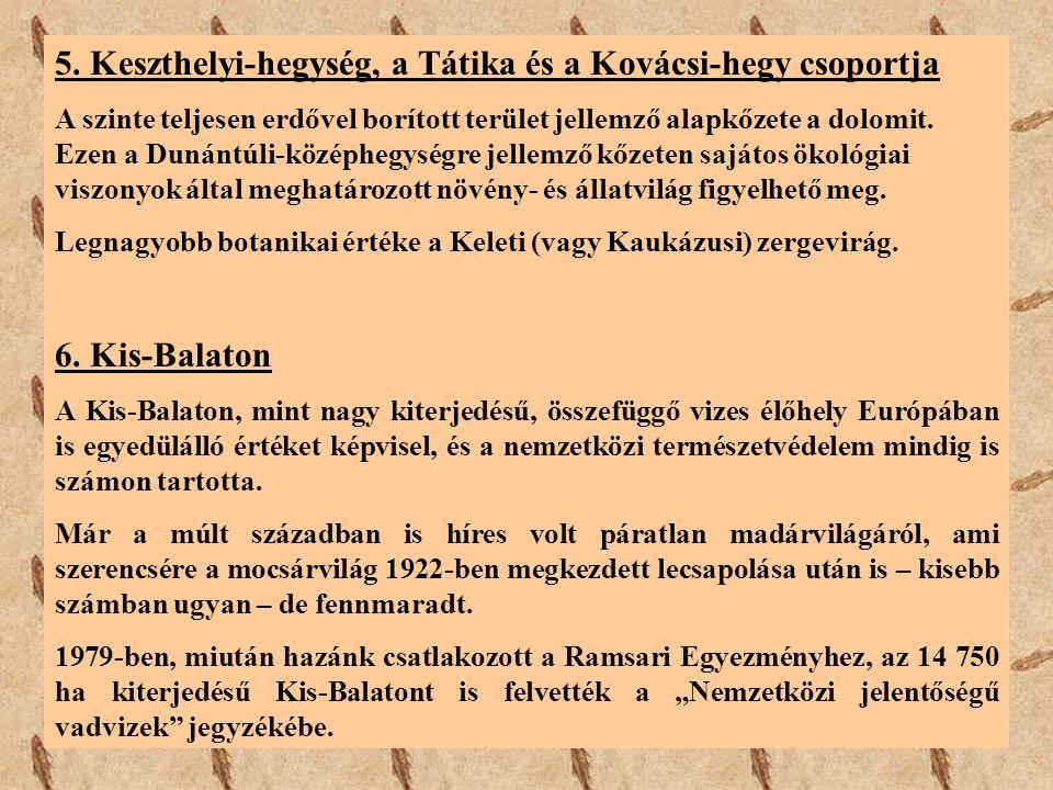 5. Keszthelyi-hegység, a Tátika és a Kovácsi-hegy csoportja