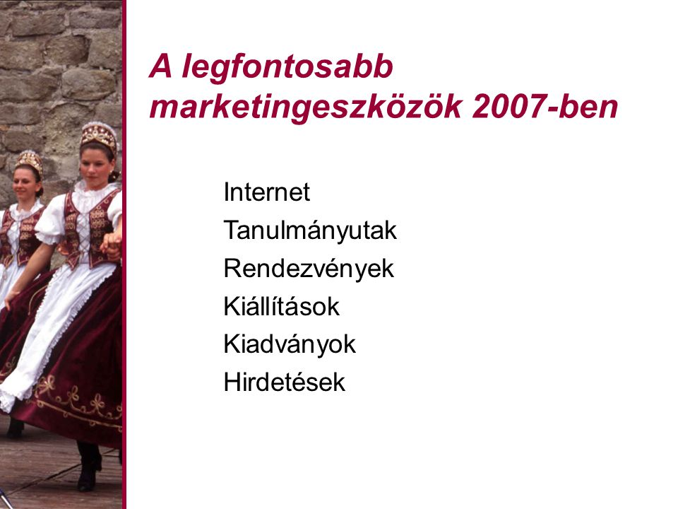A legfontosabb marketingeszközök 2007-ben