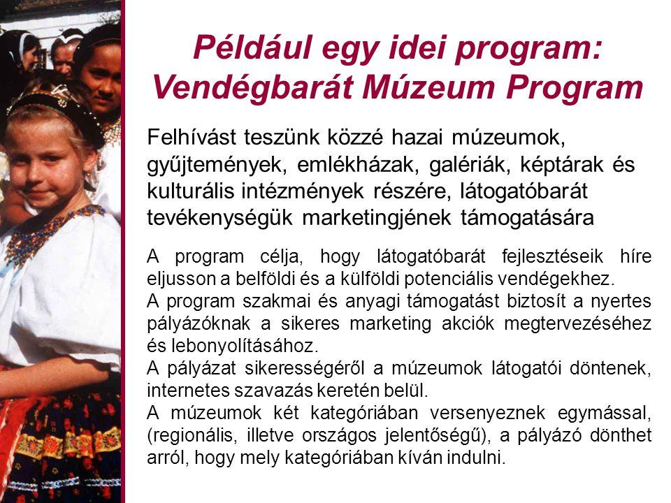 Például egy idei program: Vendégbarát Múzeum Program