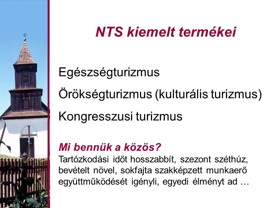 NTS kiemelt termékei Egészségturizmus