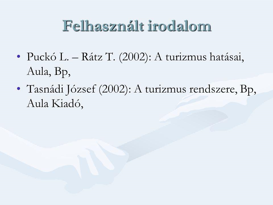 Felhasznált irodalom Puckó L. – Rátz T.