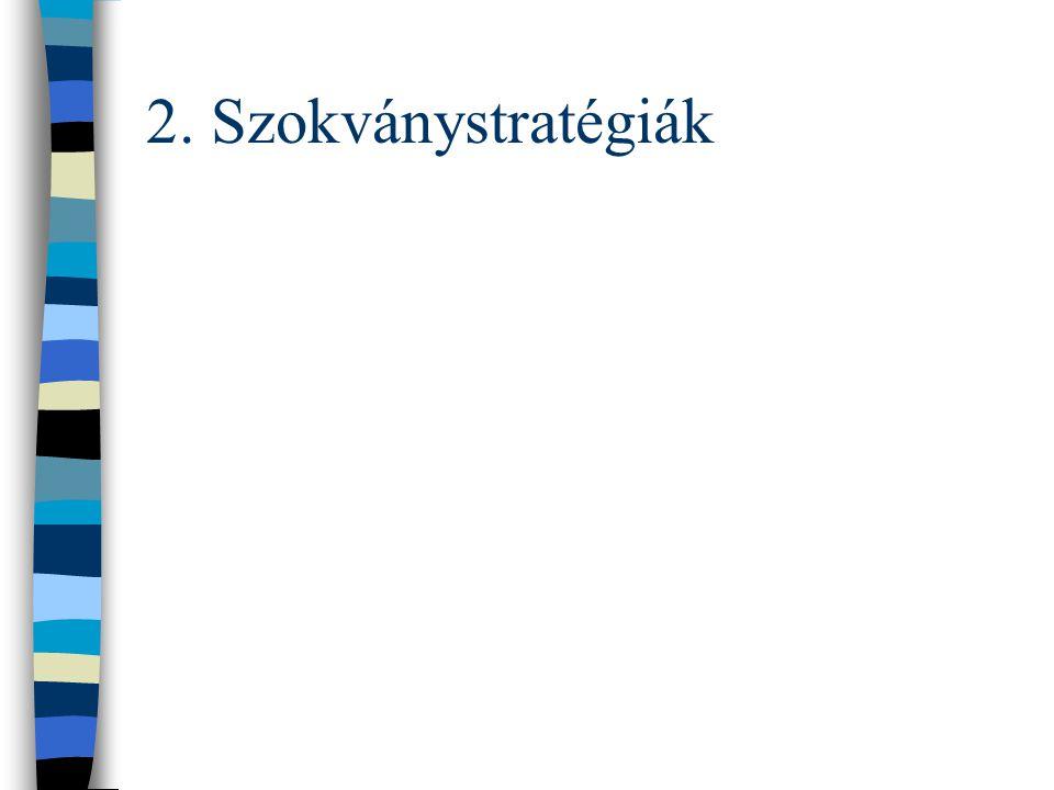 2. Szokványstratégiák