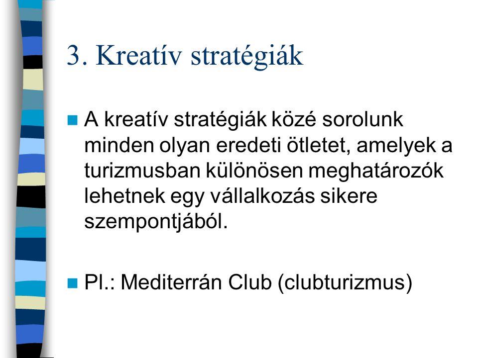 3. Kreatív stratégiák
