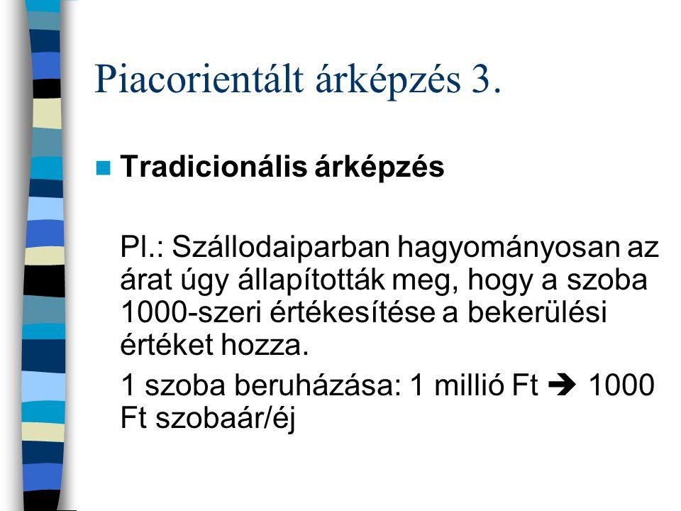 Piacorientált árképzés 3.