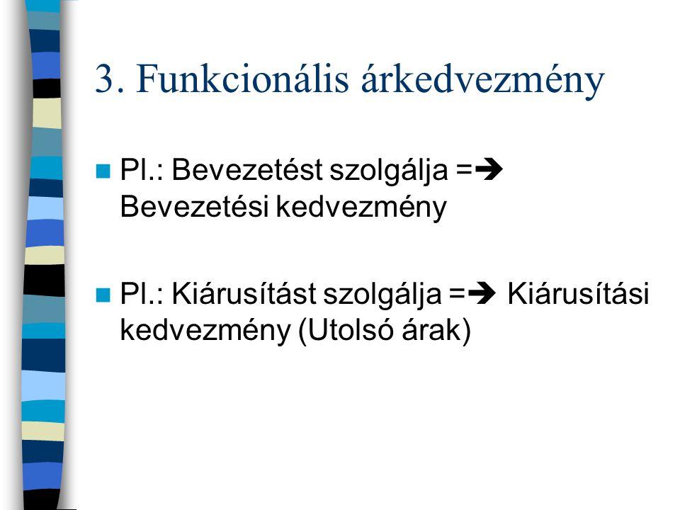 3. Funkcionális árkedvezmény