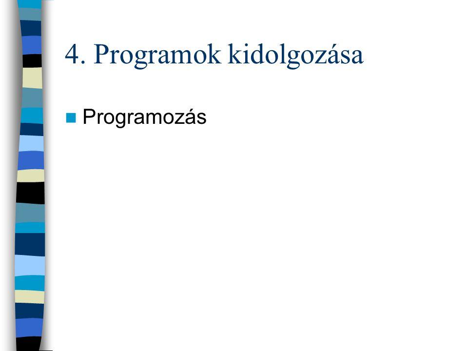 4. Programok kidolgozása