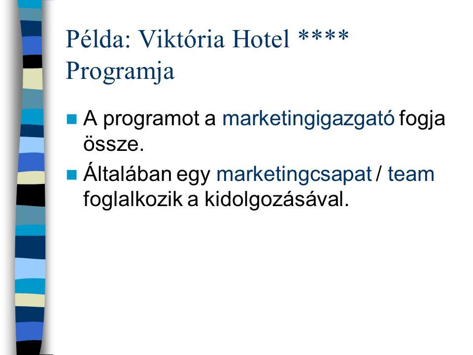Példa: Viktória Hotel **** Programja