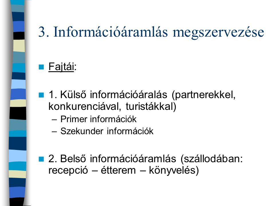 3. Információáramlás megszervezése