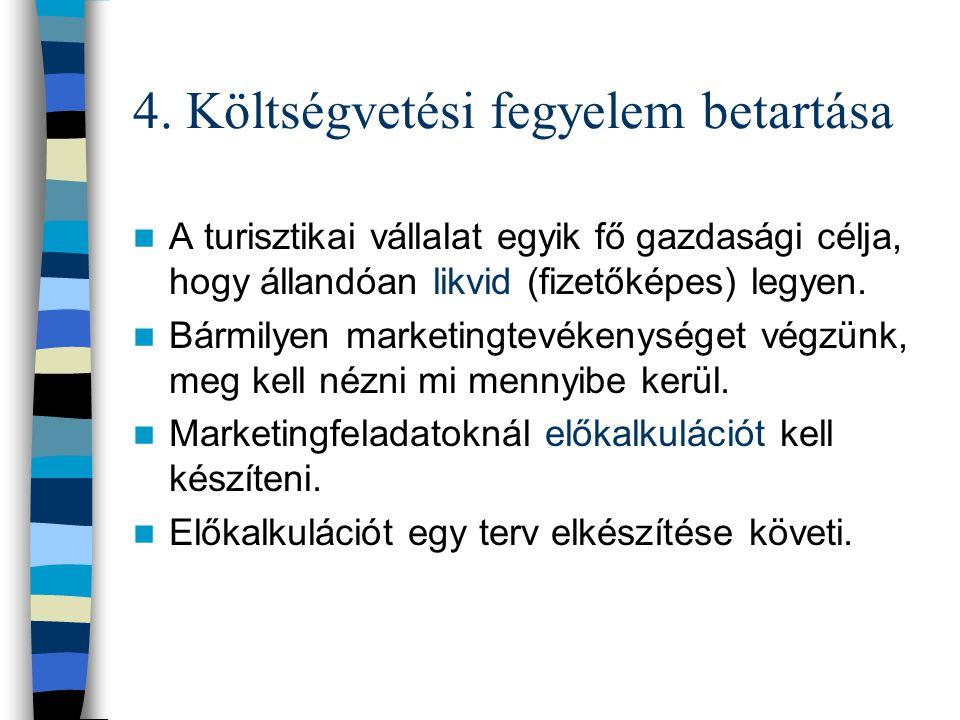 4. Költségvetési fegyelem betartása