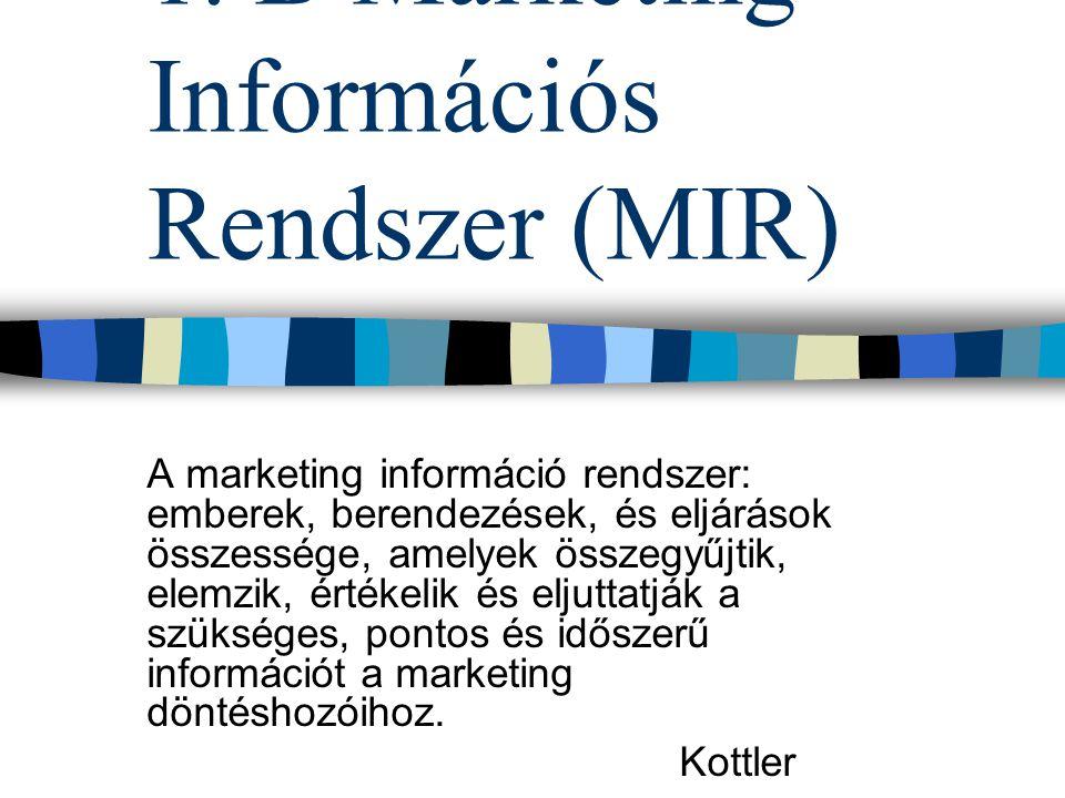 1. B Marketing Információs Rendszer (MIR)