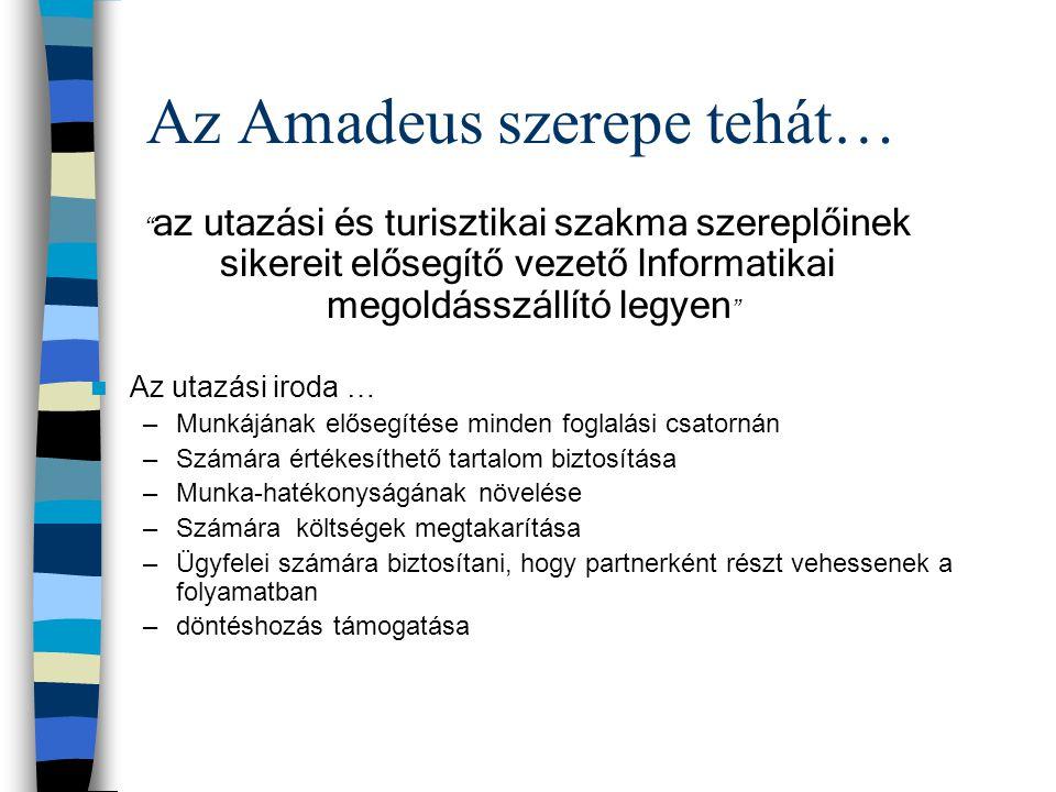 Az Amadeus szerepe tehát…