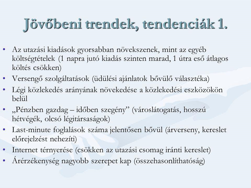 Jövőbeni trendek, tendenciák 1.