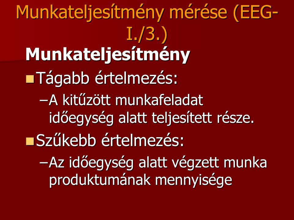 Munkateljesítmény mérése (EEG-I./3.)