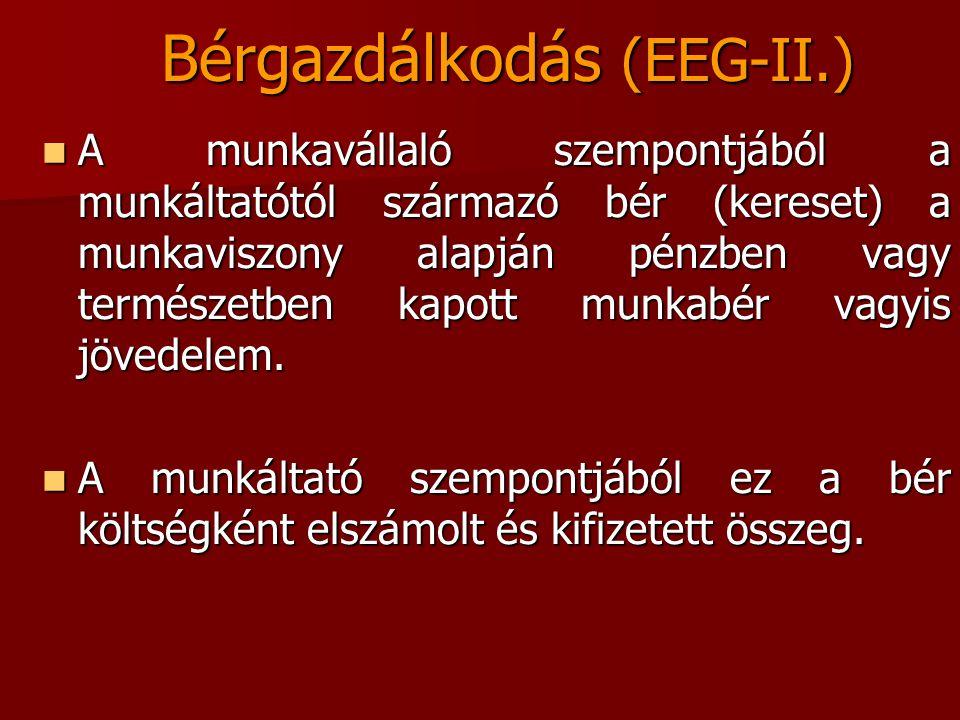 Bérgazdálkodás (EEG-II.)