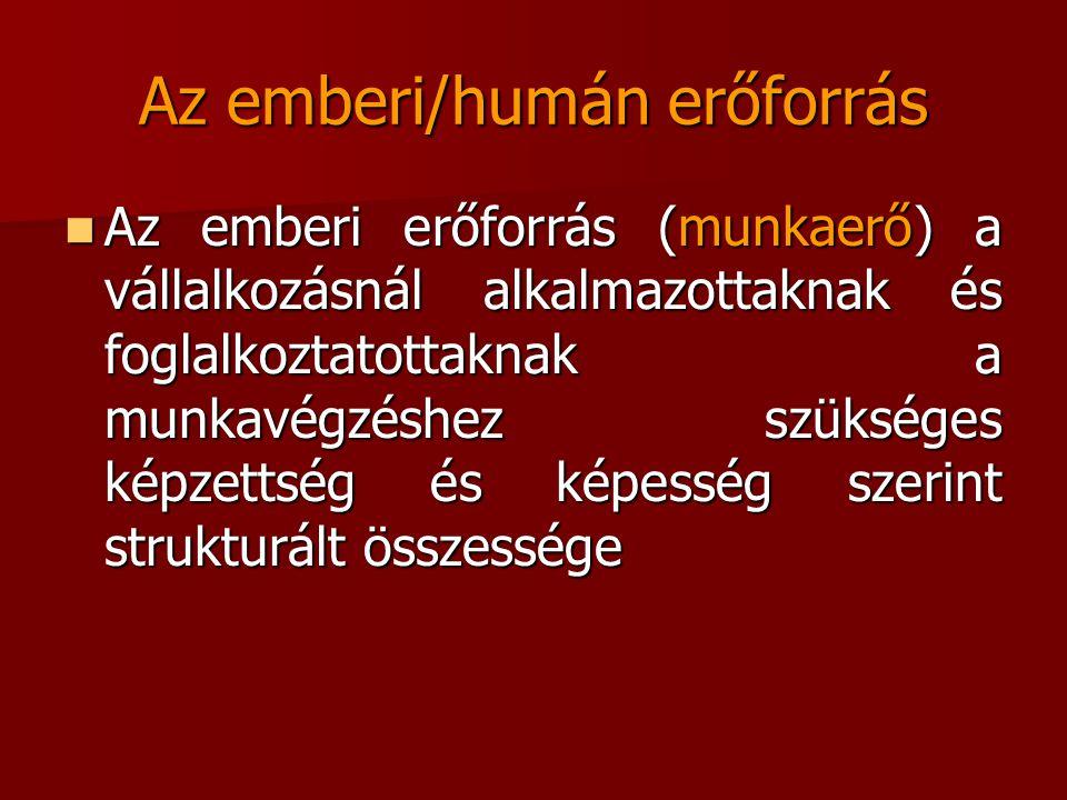 Az emberi/humán erőforrás