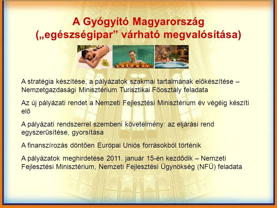 """A Gyógyító Magyarország (""""egészségipar várható megvalósítása)"""