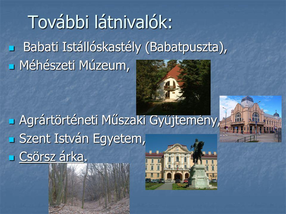 További látnivalók: Babati Istállóskastély (Babatpuszta),