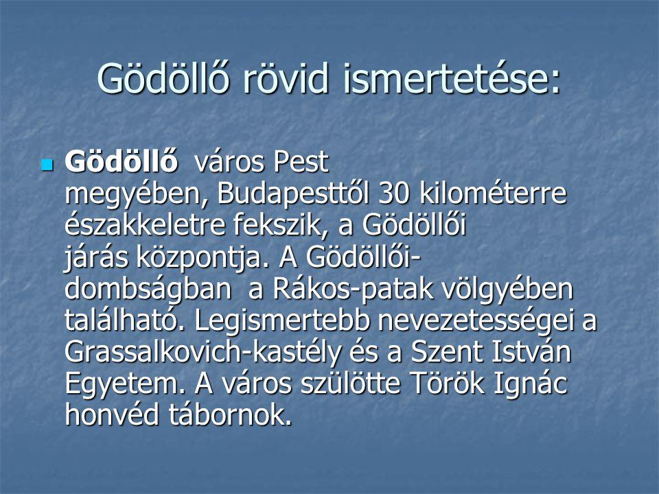 Gödöllő rövid ismertetése: