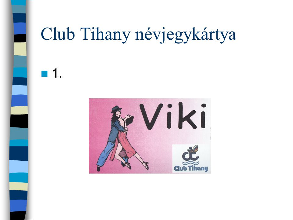 Club Tihany névjegykártya
