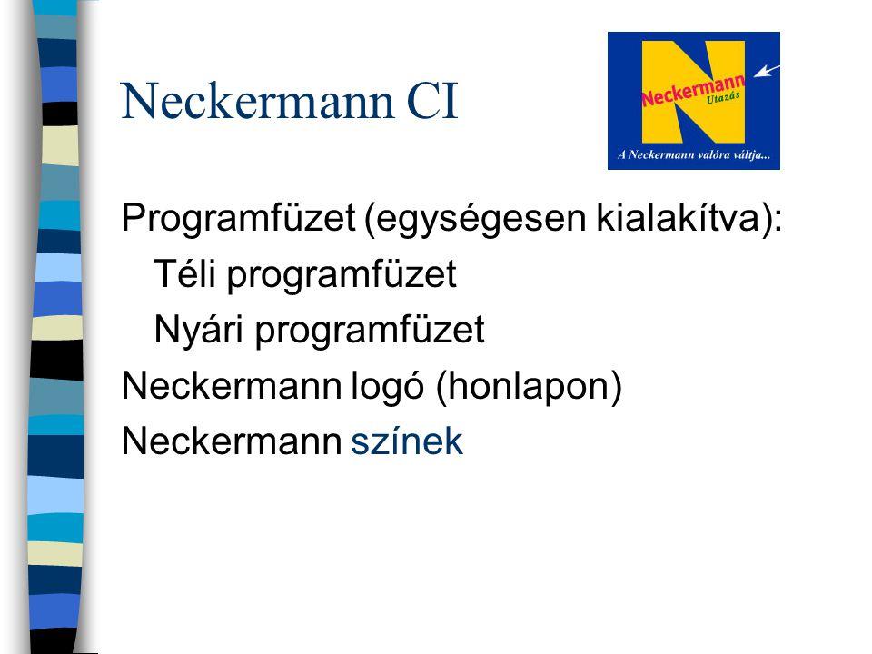 Neckermann CI Programfüzet (egységesen kialakítva): Téli programfüzet