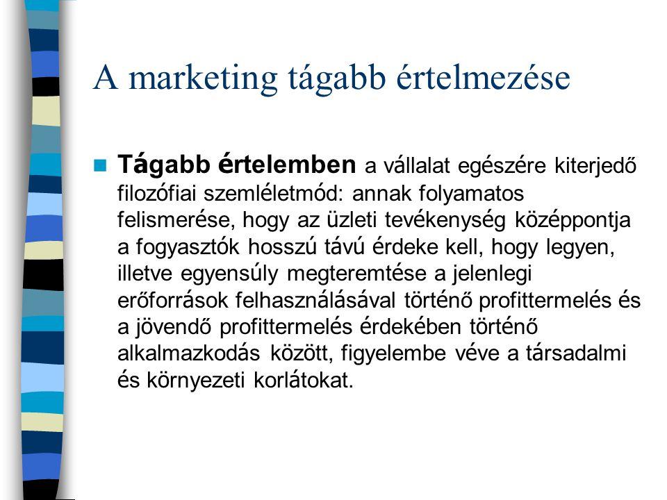 A marketing tágabb értelmezése