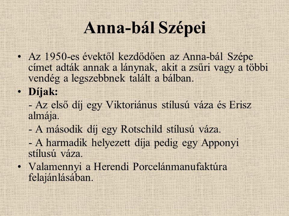 Anna-bál Szépei