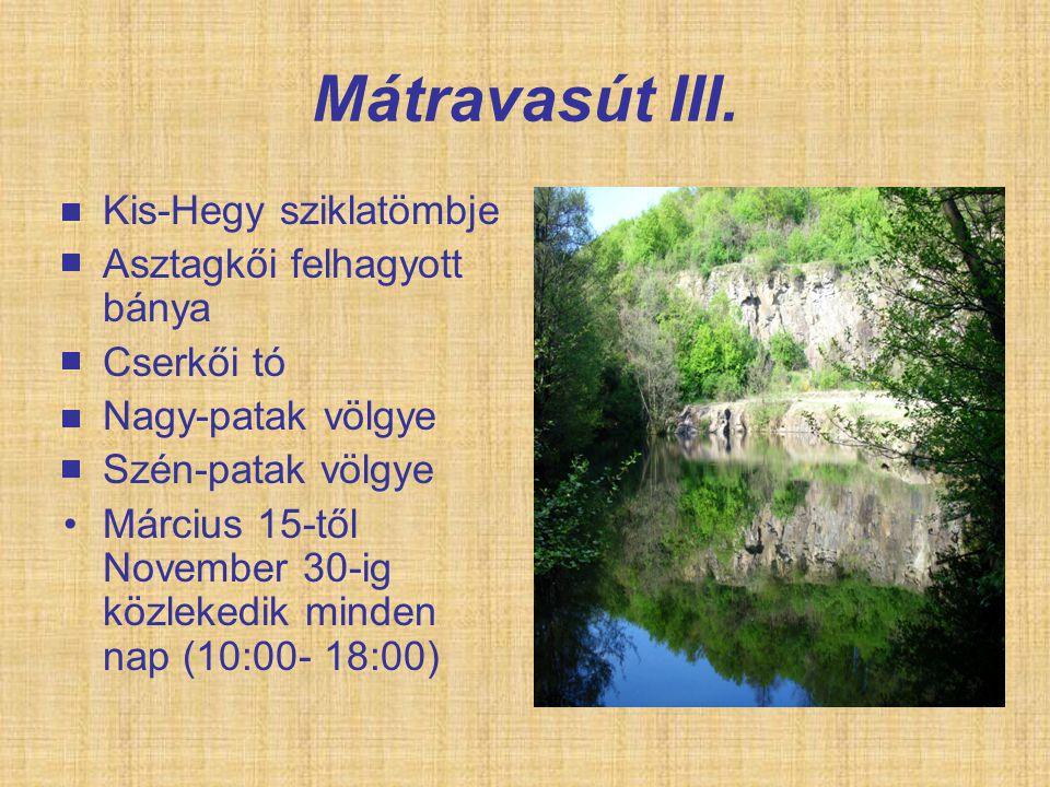 Mátravasút III. Kis-Hegy sziklatömbje Asztagkői felhagyott bánya