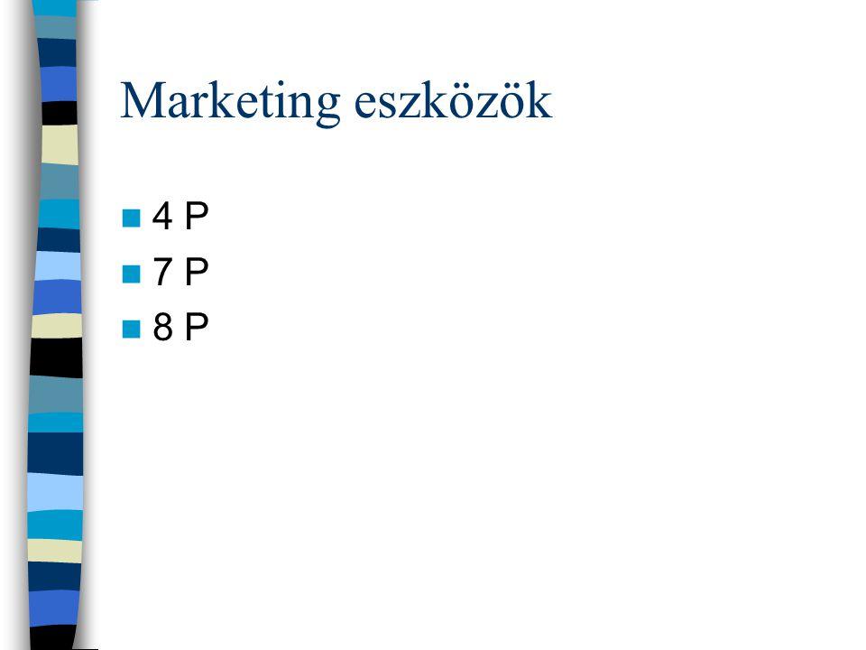 Marketing eszközök 4 P 7 P 8 P