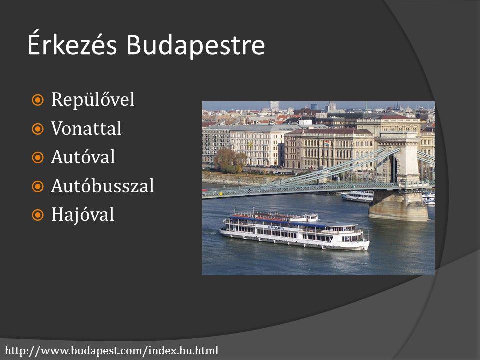 Érkezés Budapestre Repülővel Vonattal Autóval Autóbusszal Hajóval