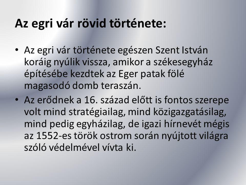 Az egri vár rövid története: