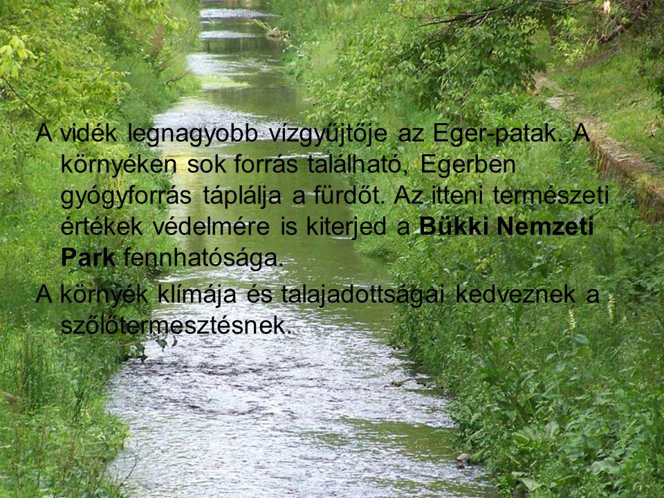 A vidék legnagyobb vízgyűjtője az Eger-patak