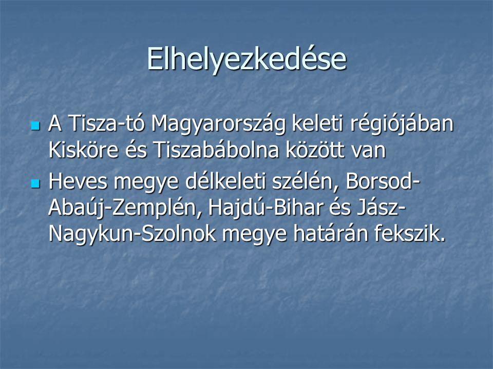 Elhelyezkedése A Tisza-tó Magyarország keleti régiójában Kisköre és Tiszabábolna között van.