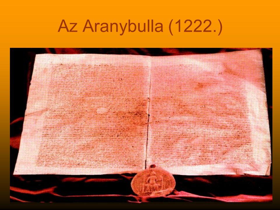 Az Aranybulla (1222.)