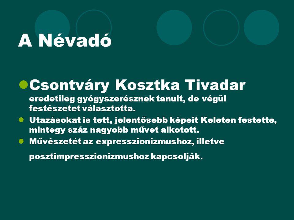 A Névadó Csontváry Kosztka Tivadar eredetileg gyógyszerésznek tanult, de végül festészetet választotta.