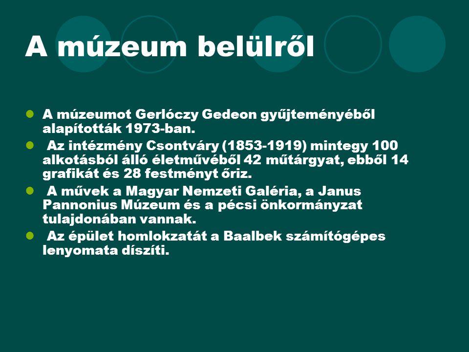 A múzeum belülről A múzeumot Gerlóczy Gedeon gyűjteményéből alapították 1973-ban.