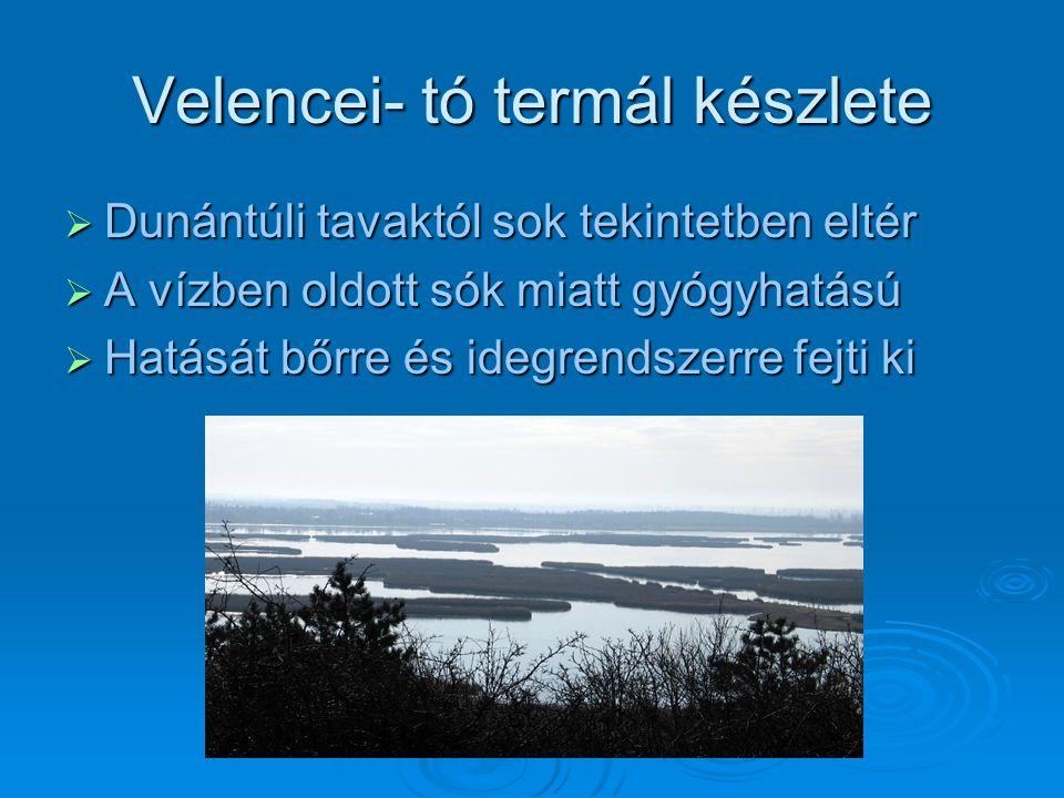 Velencei- tó termál készlete