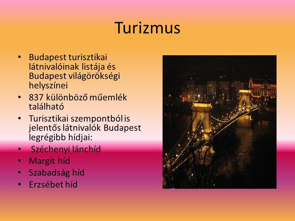 Turizmus Budapest turisztikai látnivalóinak listája és Budapest világörökségi helyszínei. 837 különböző műemlék található.