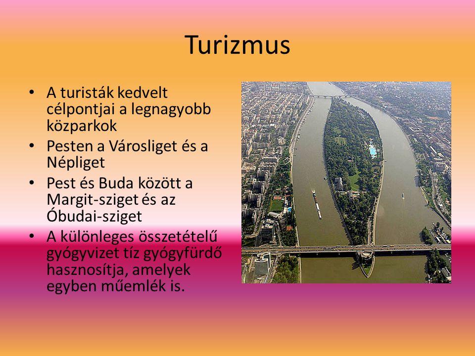 Turizmus A turisták kedvelt célpontjai a legnagyobb közparkok