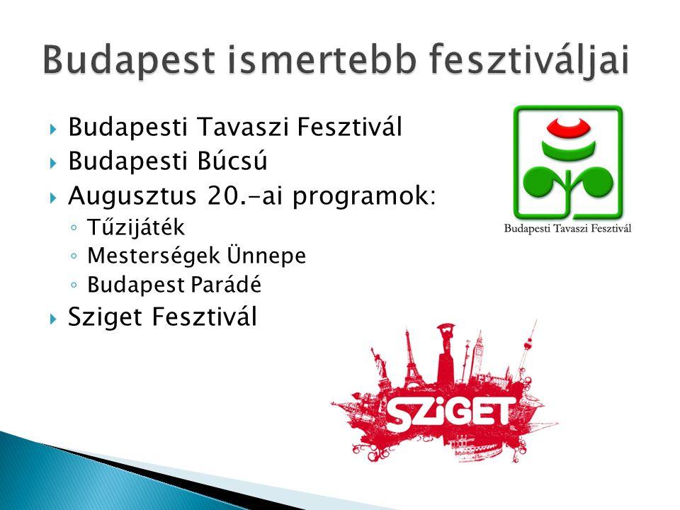 Budapest ismertebb fesztiváljai