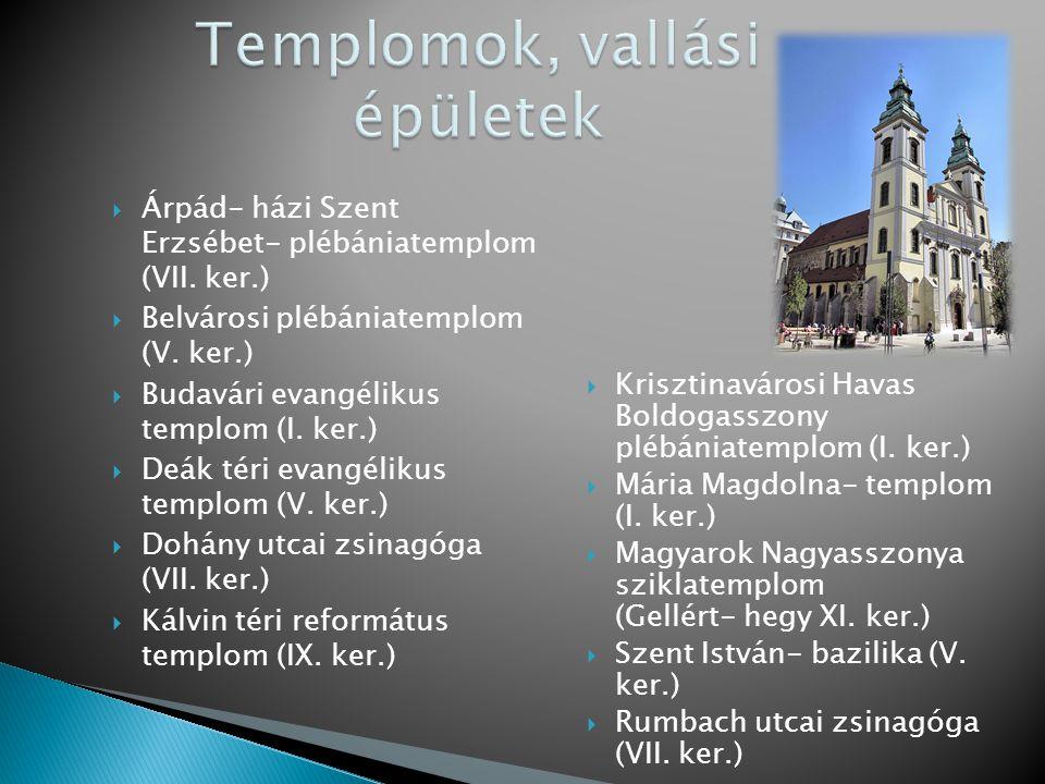 Templomok, vallási épületek