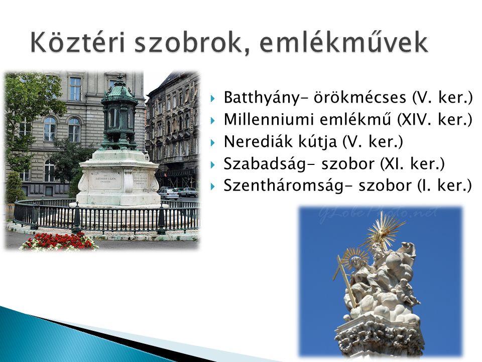 Köztéri szobrok, emlékművek