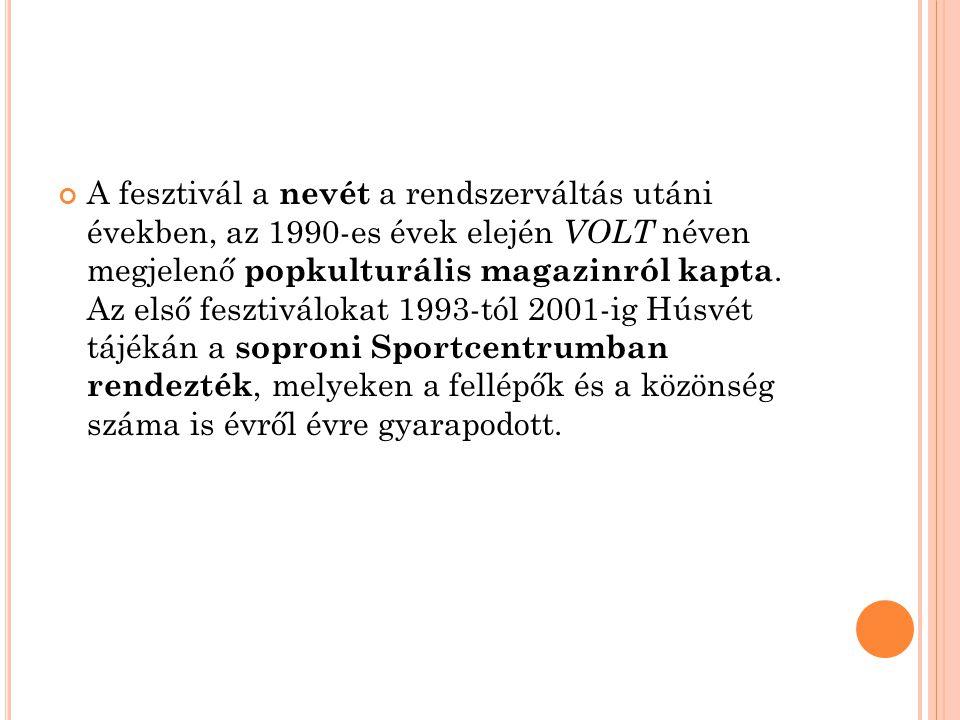 A fesztivál a nevét a rendszerváltás utáni években, az 1990-es évek elején VOLT néven megjelenő popkulturális magazinról kapta.