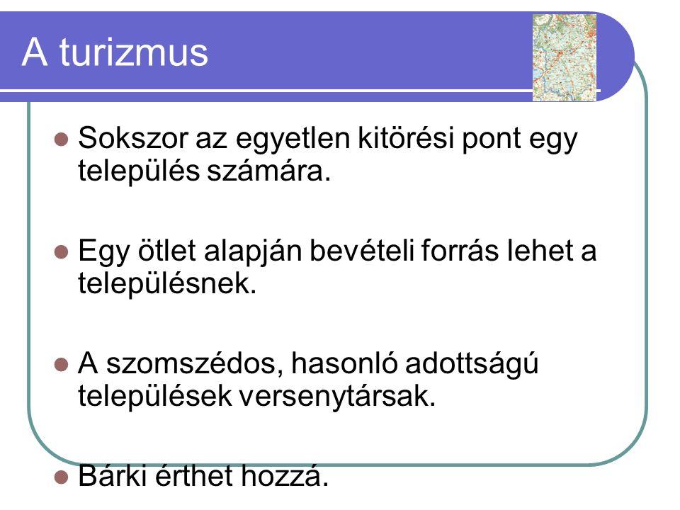 A turizmus Sokszor az egyetlen kitörési pont egy település számára.