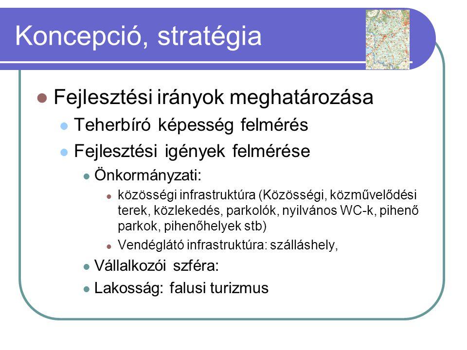 Koncepció, stratégia Fejlesztési irányok meghatározása