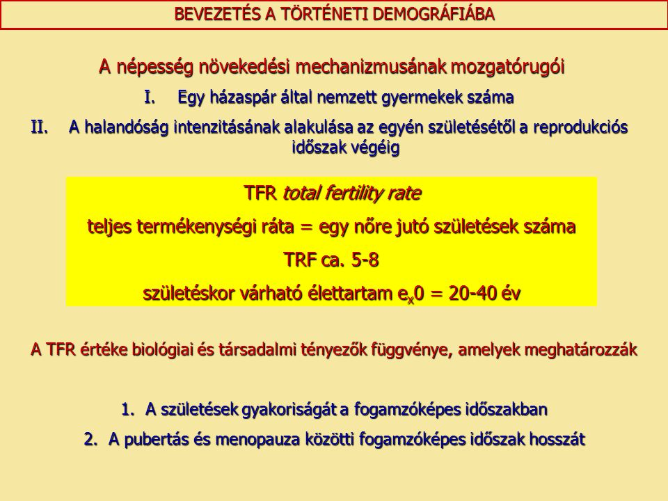 TFR total fertility rate