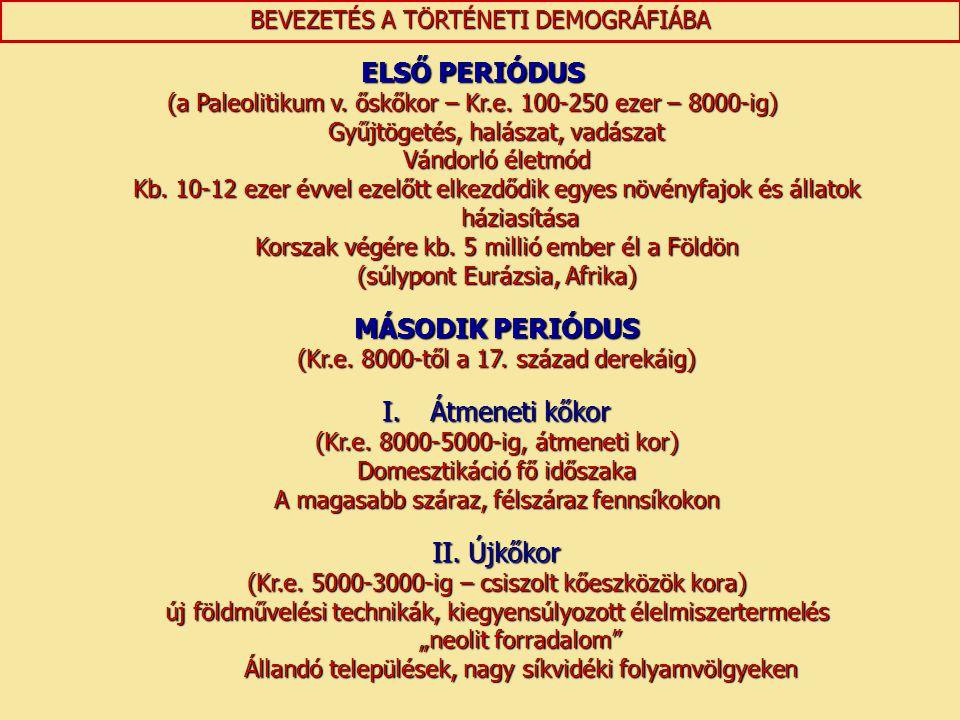 ELSŐ PERIÓDUS MÁSODIK PERIÓDUS