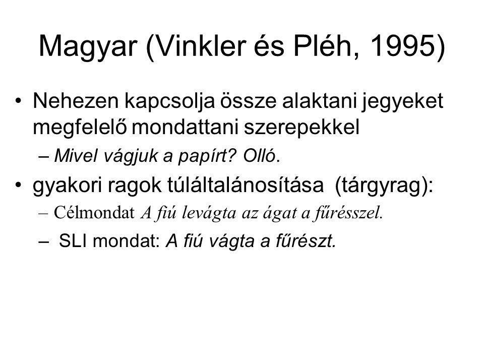Magyar (Vinkler és Pléh, 1995)