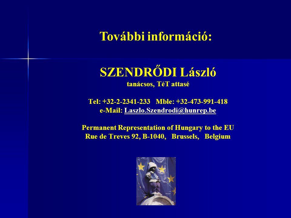 További információ: SZENDRŐDI László