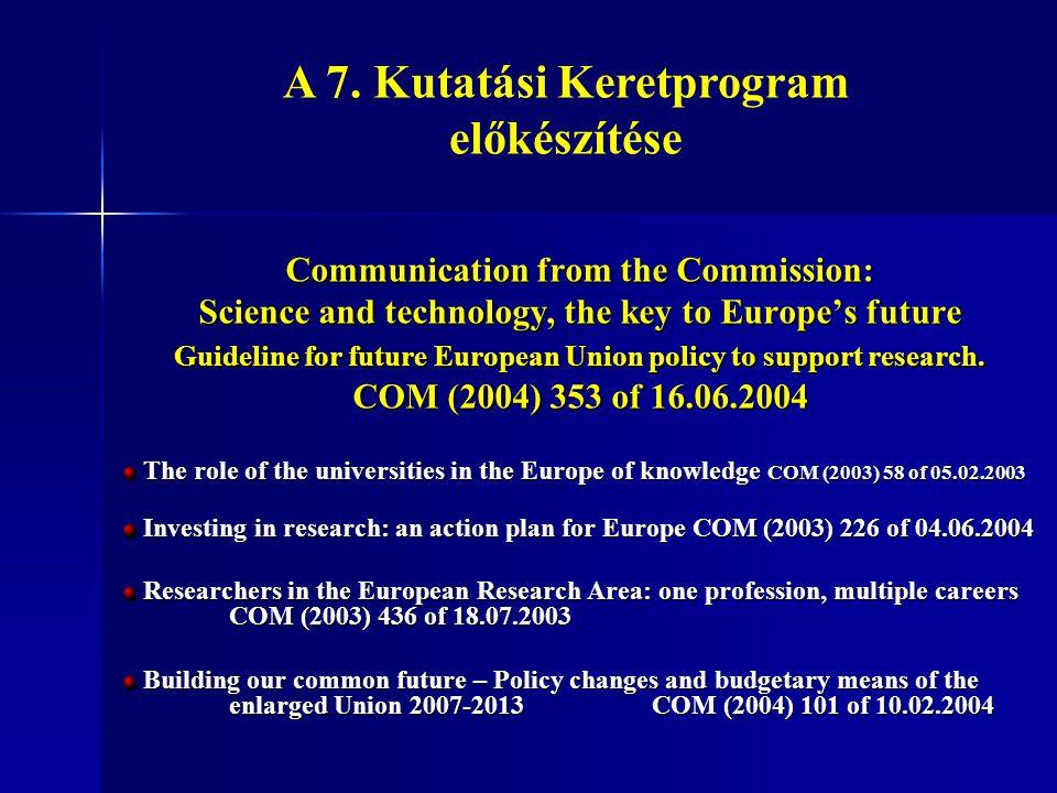A 7. Kutatási Keretprogram