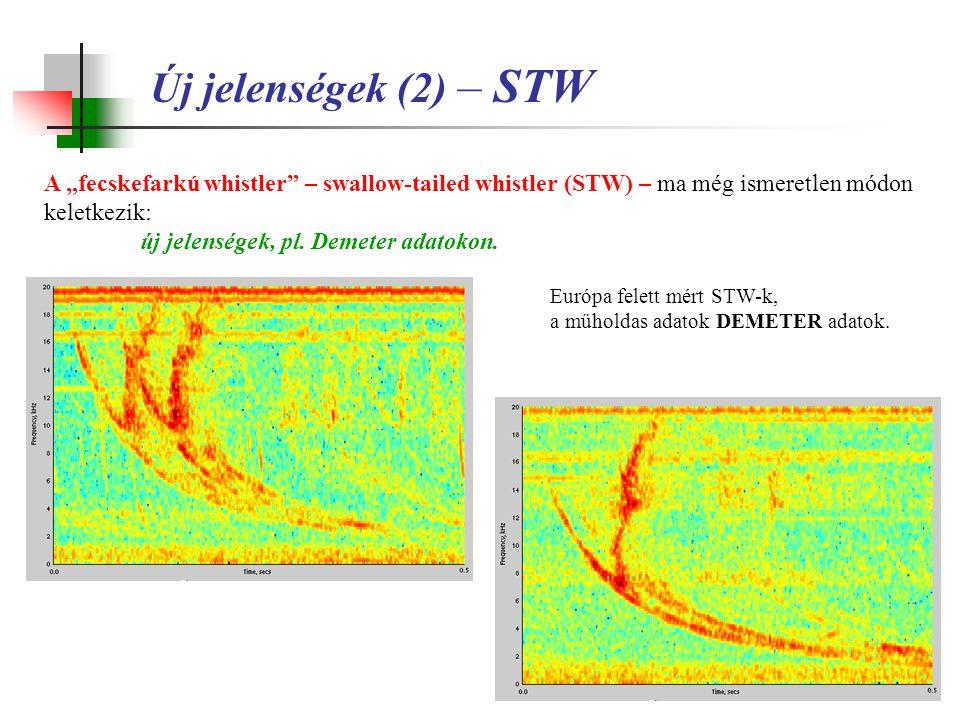 """Új jelenségek (2) – STW A """"fecskefarkú whistler – swallow-tailed whistler (STW) – ma még ismeretlen módon keletkezik:"""